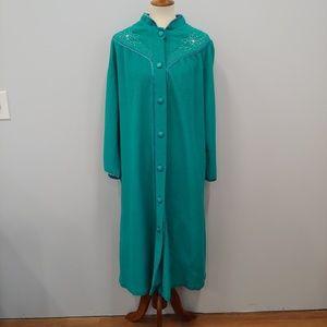PLUS SIZE VINTAGE SEARS Robe Housecoat, Green, 2X